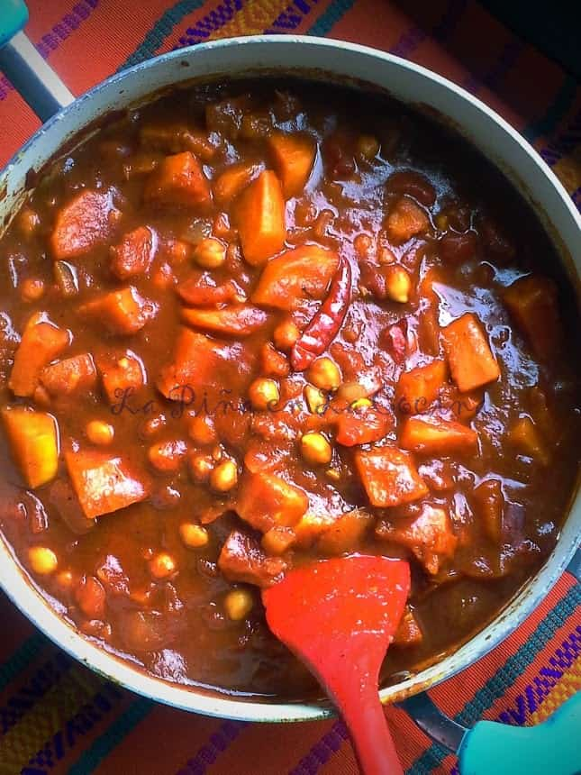 Spicy Roasted Butternut Squash and Chickpea Curry