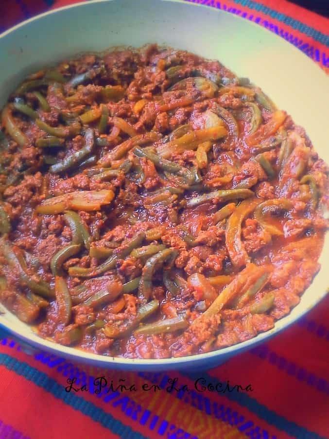 Nopalitos con Chorizo en Salsa de Chipotle