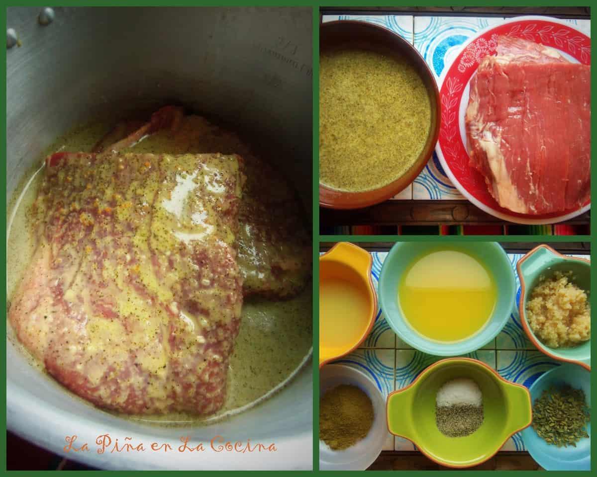 Preparing Garlic Mojo Sauce for Flank Steak