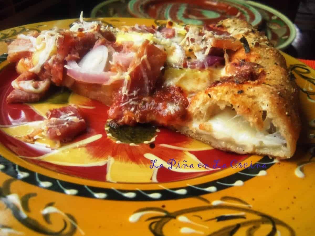 Hawaiian Style, Cheese Stuffed Crust Whole Wheat Pizza