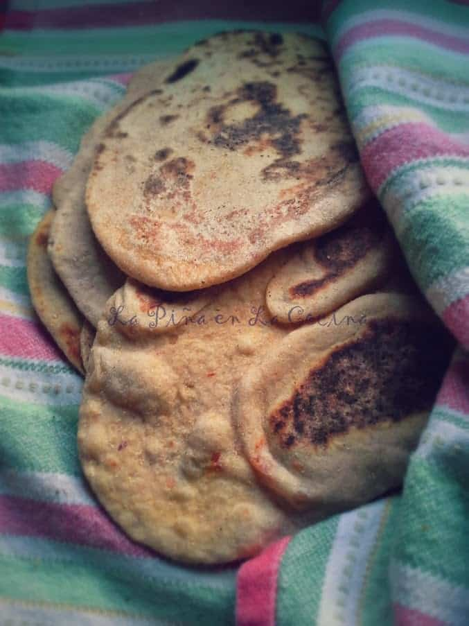 Whole Wheat Naan Bread Infused with Thai Chili Garlic Sauce