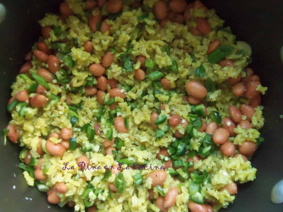 Steamed Brown Rice w/ Pinto Beans, Cilantro, Lime and Jalapeño