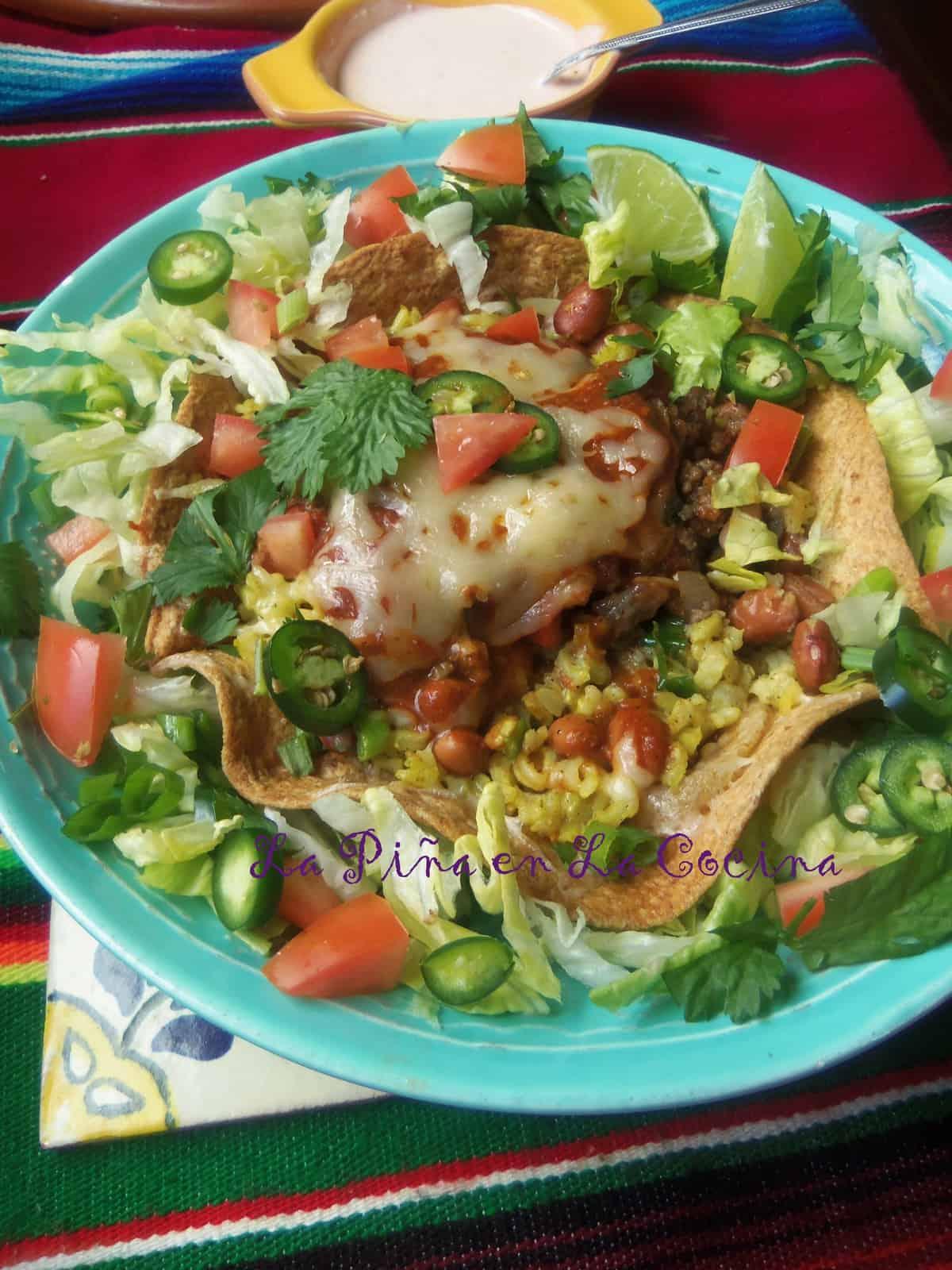 Tex Mex Burrito/Enchilada/Taco Salad Bowl