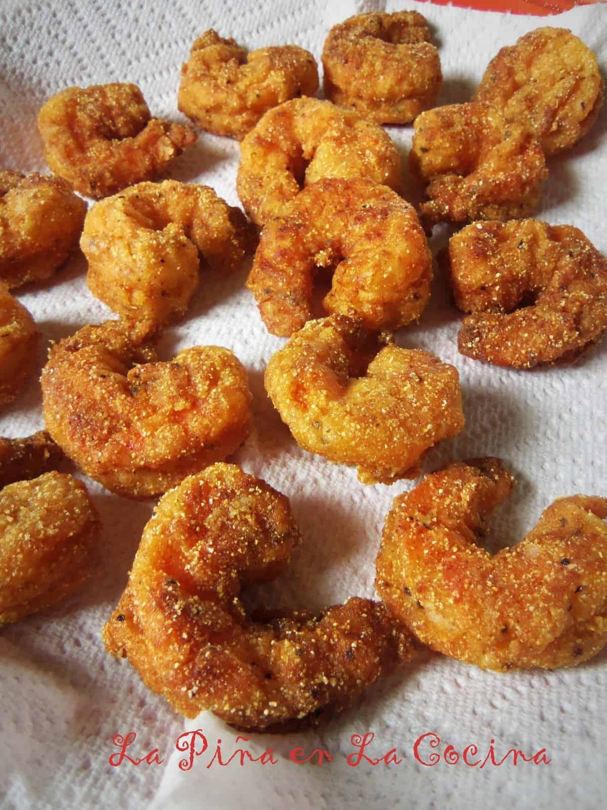 Crispy Shrimp for Po Boys or Toss in Buffalo Sauce!