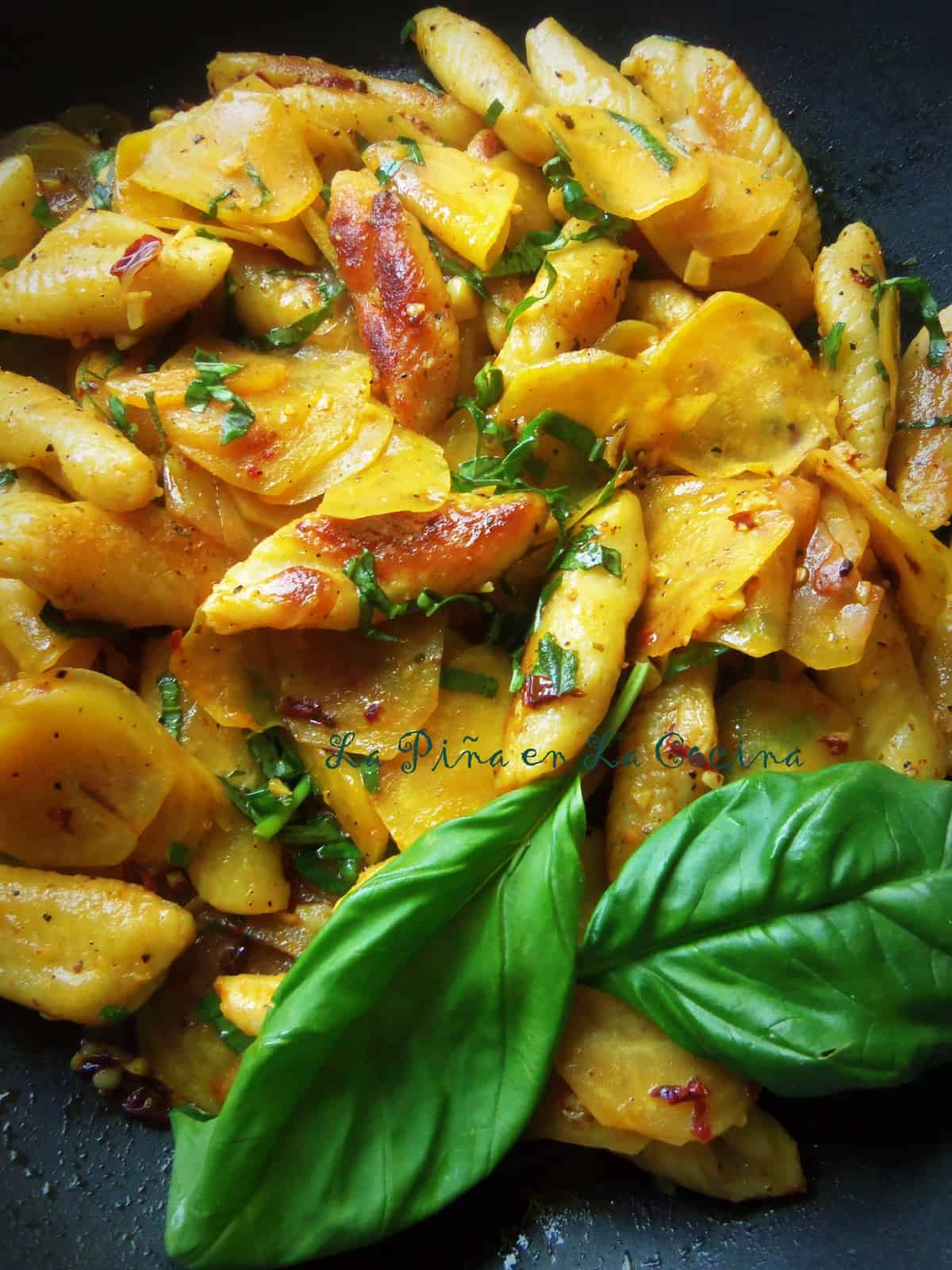 Potato Gnocchi with Golden Beets and Chipotle
