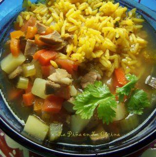 Chicken Soup with Vegetables and Rice (Caldo de Pollo con Arroz)