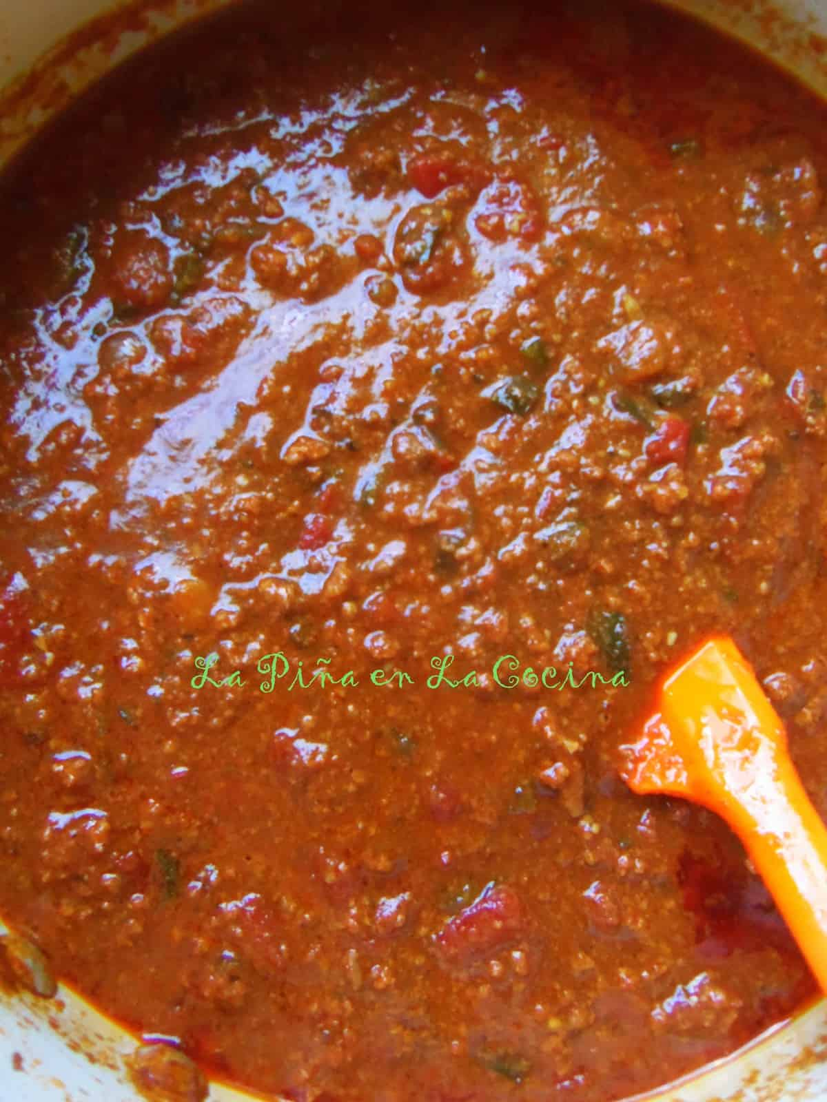 Mexican Meat Sauce.