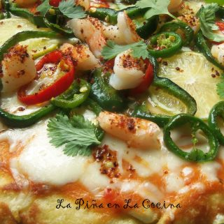 Chile Lime Shrimp Pizza~ Easy and Fresh Pizza Dough
