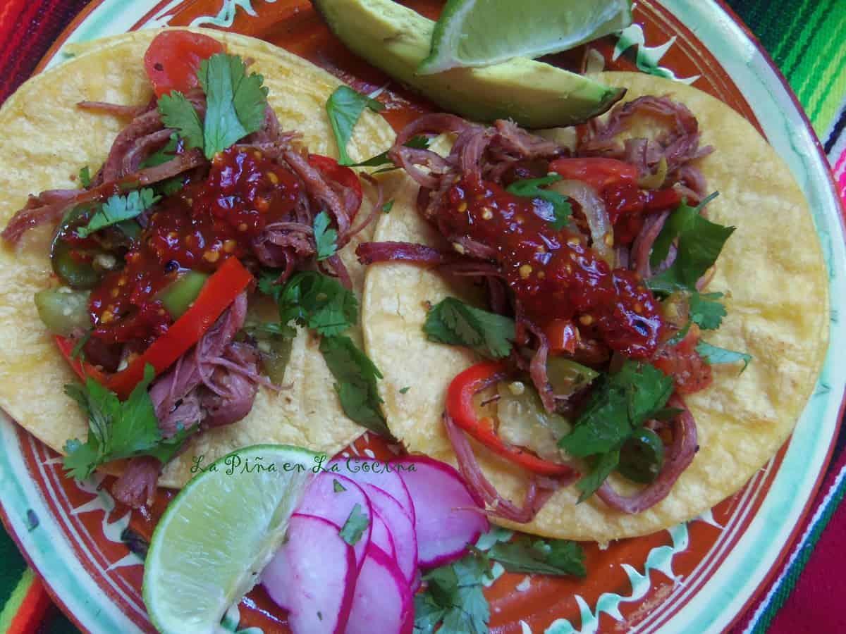 Corned Beef Machaca Tacos