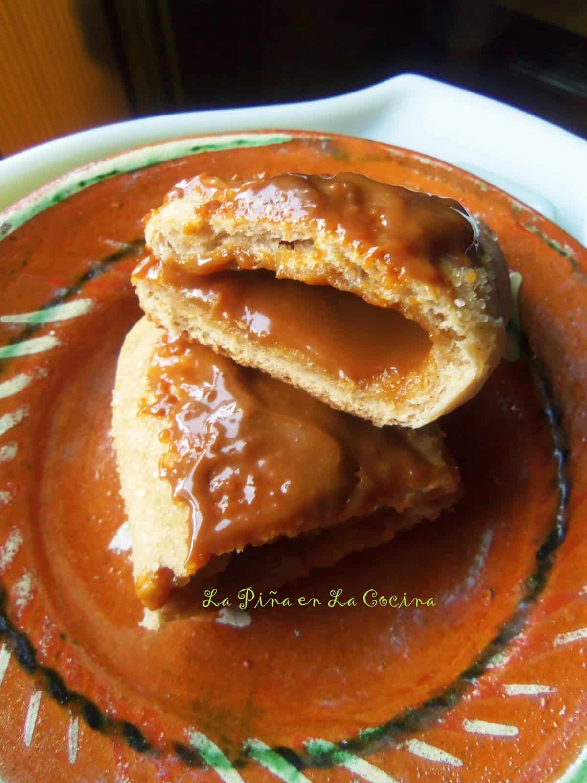 Testing empanada dough requires cajeta, dulce de leche. No fuss filling!