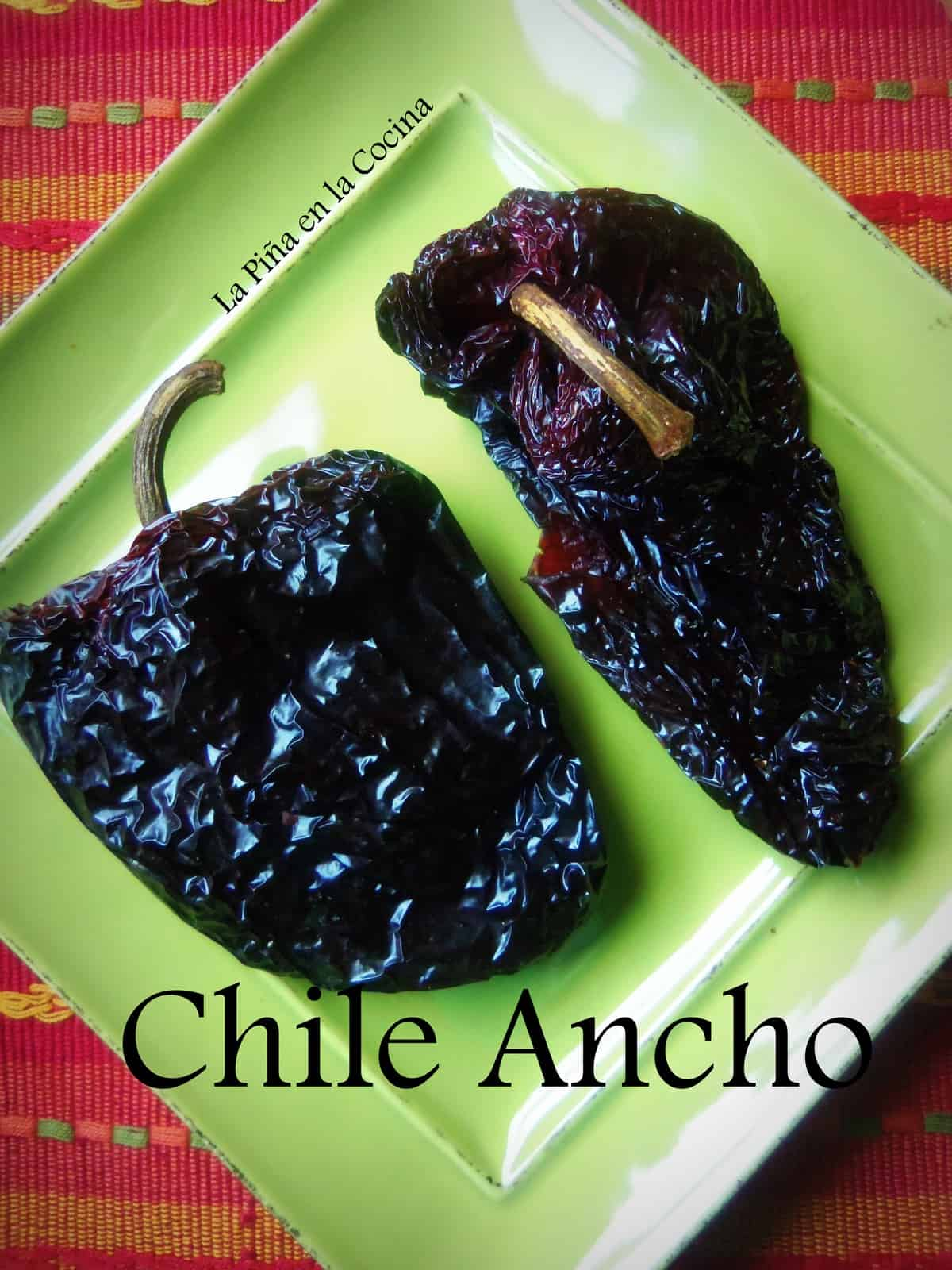 Chile Ancho has to be one of my most favorite of the dried chile peppers.
