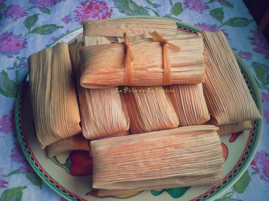 Usually when I get to the last taml, there is an odd amount of masa left, so I just take it all and make one big tamal, lol!  They are known as el tamal borracho.