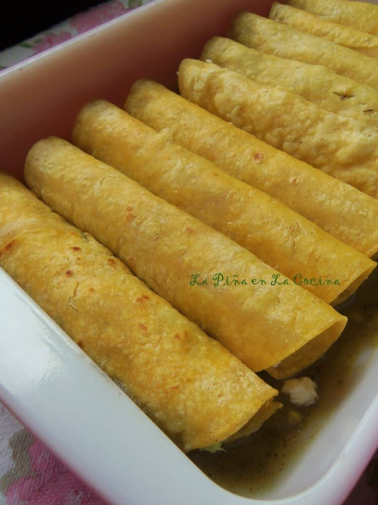 I prefer a soft yellow corn tortilla for my enchilada recipes.