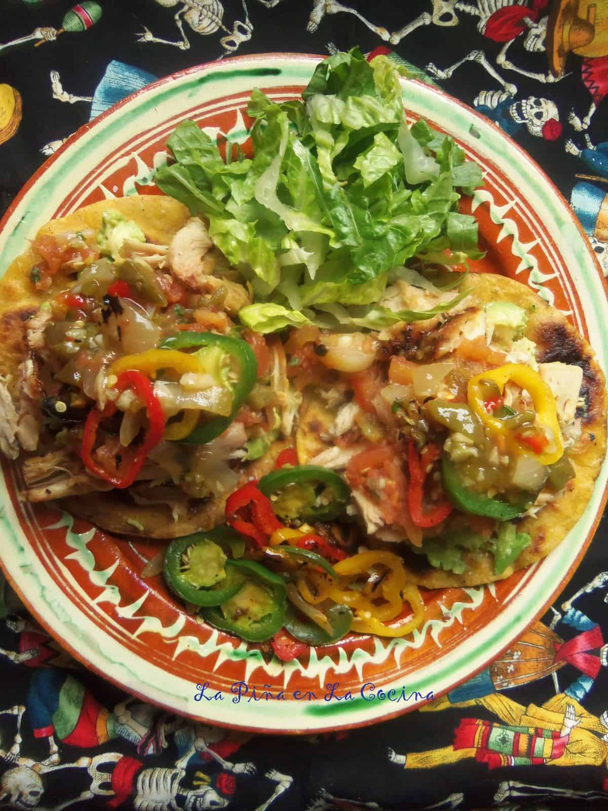 Smoky Chicken Tostadas