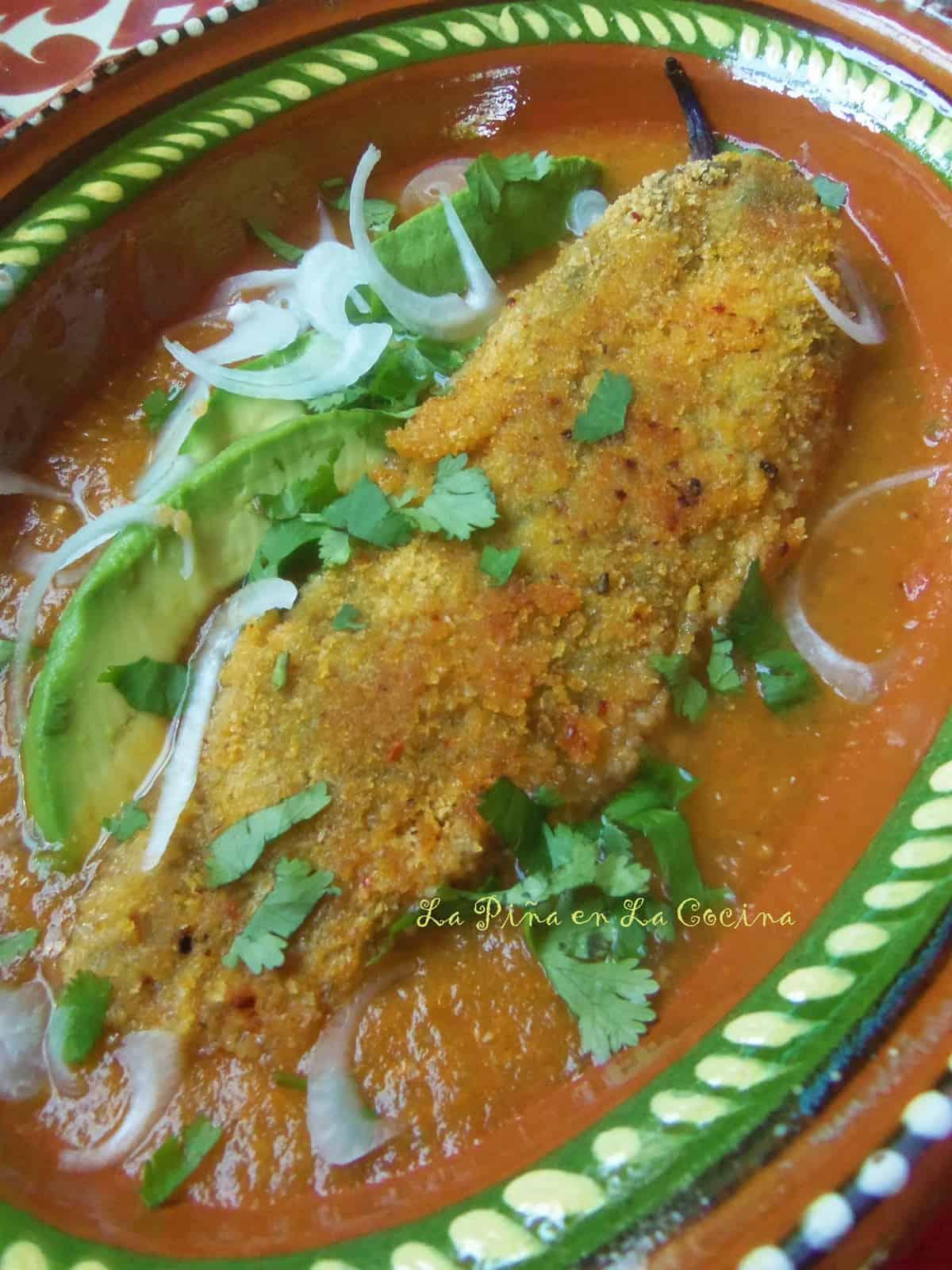 Serve  relleno with warm corn tortillas.