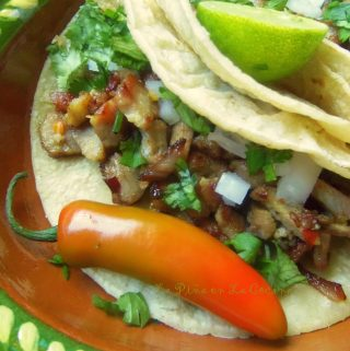Grilled Pork Steak~ Garlic Mojo Tacos de Carnitas
