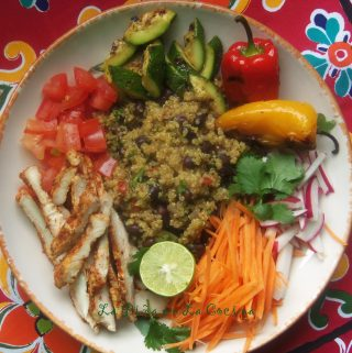 Fresh Mex~Grilled Chicken  and Black Beans Quinoa Bowls