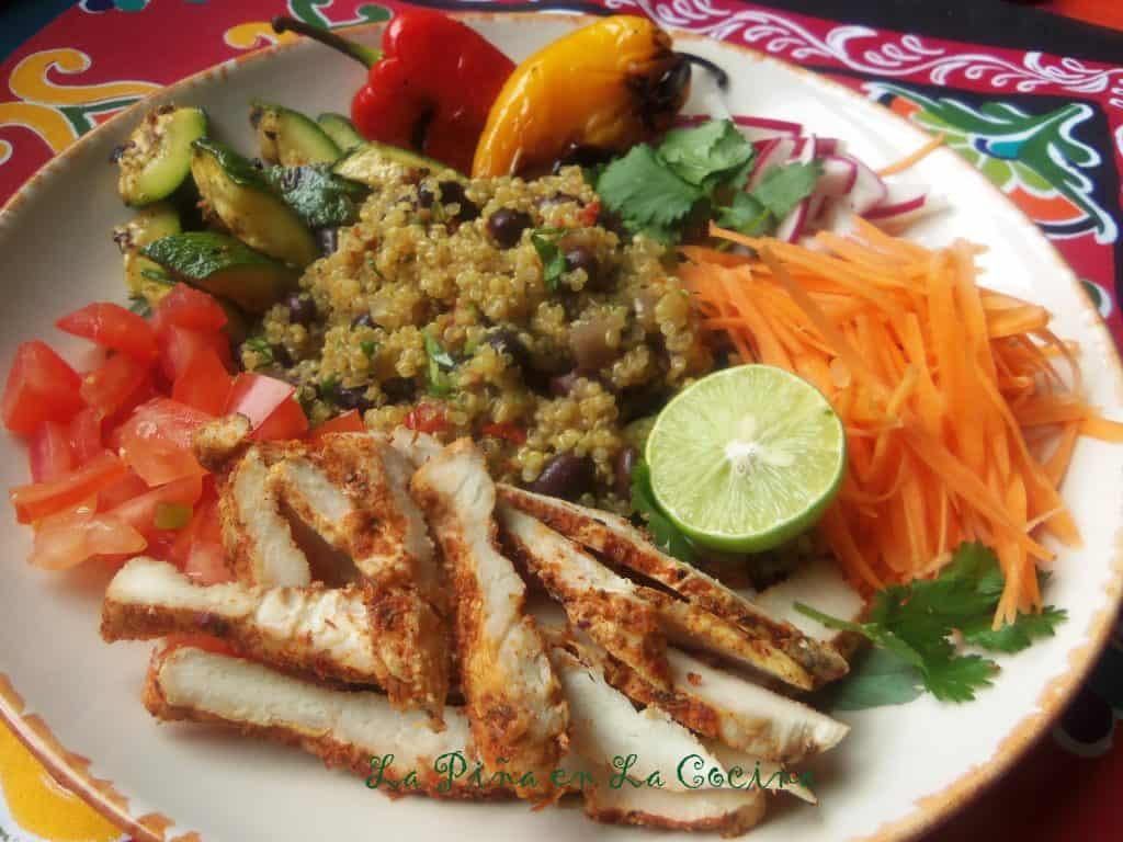 Fresh Mex Grilled Chicken Quinoa Bowls