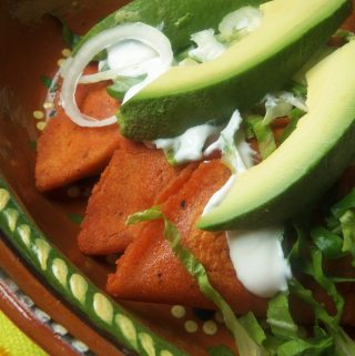 Enchiladas Potosinas~ Red Chile Tortilla Cheese Enchiladas