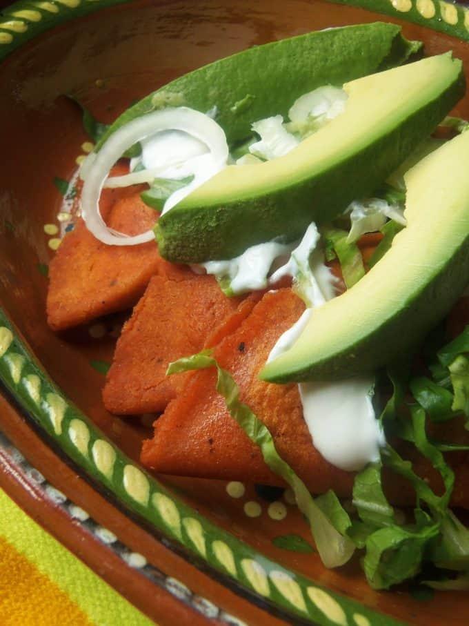 Enchiladas Potosinas~ Red Chile Tortilla Cheese Enchiladas ...