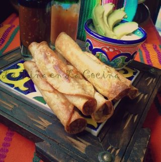 Baked Chicken Flautas-Taquitos