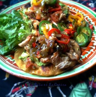 Pollo Asado~ Smoky Chicken Tostadas