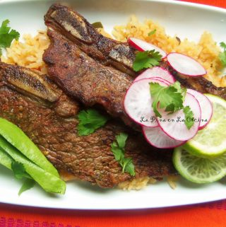 Citrus Chile Beef Short Ribs~ Costillas de Res