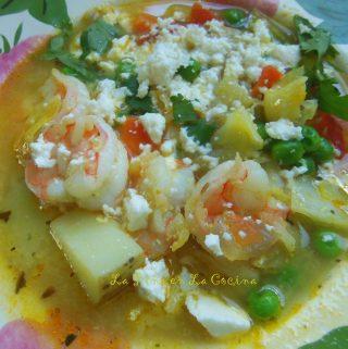 Peruvian Style Shrimp Chowder