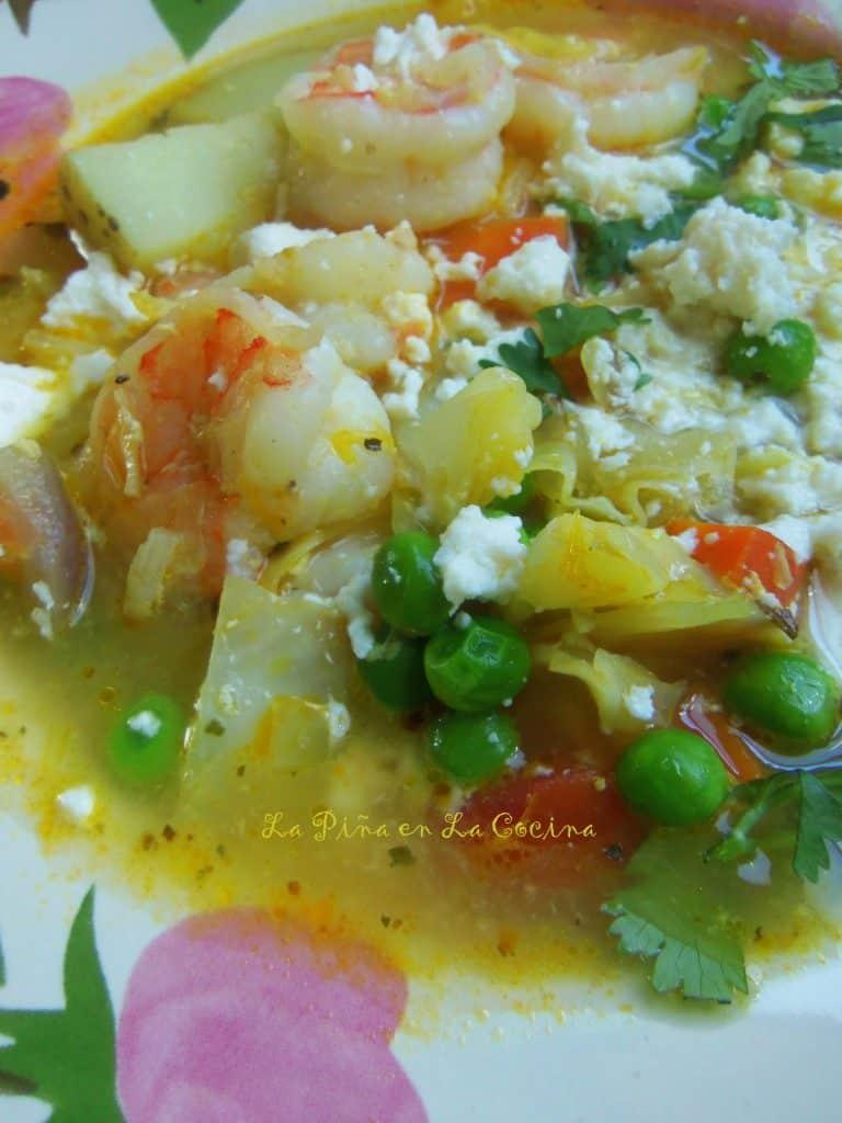 Chupe de Camarones-Peruvian Style Shrimp Chowder