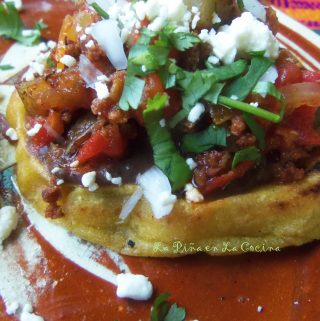 Sopes de Chorizo con Papa (Potato and Mexican Chorizo Sopes)