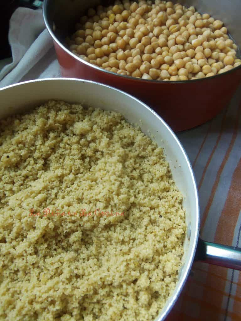 Instant Couscous and Garbanzo Beans
