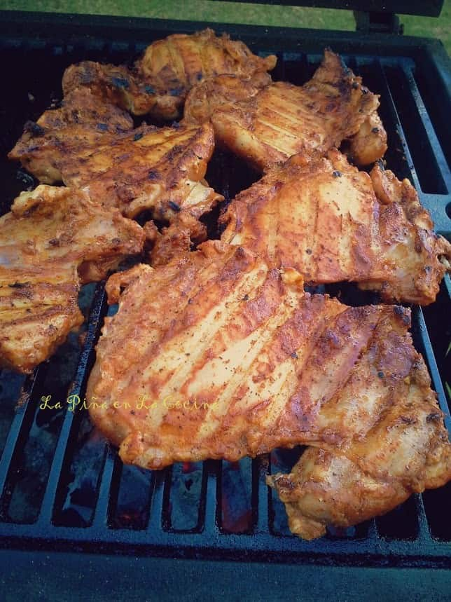 Grilled Chicken in a Spicy Mole Sauce