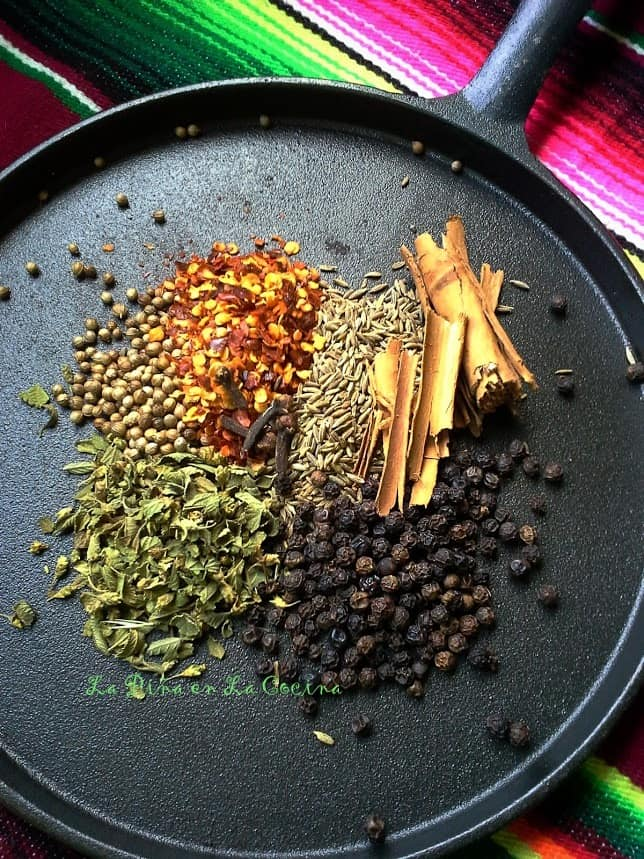 Toasting Spices for Cochinita Pibil