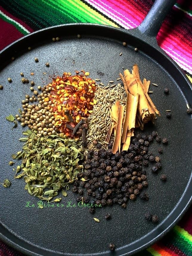 Toasting Spices for Cochinita Pibil