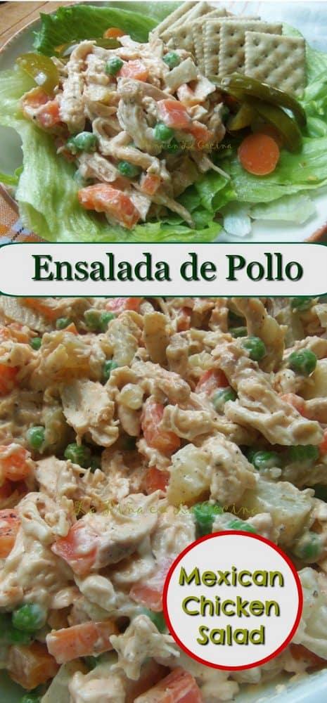 Ensalada de Pollo-Mexican Chicken.