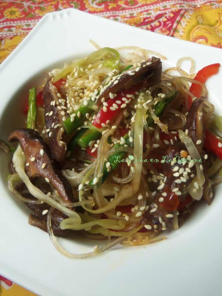 Sesame Shitake Rice Noodle Bowl