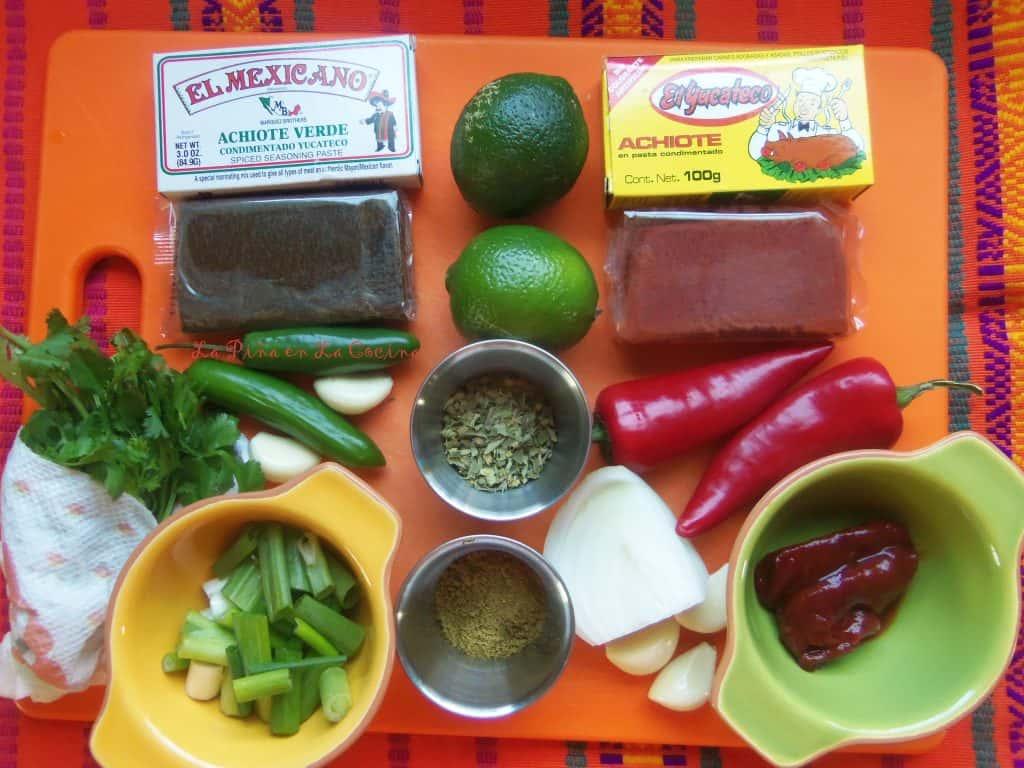 Pork Tenderloin-Red and Green Achiote