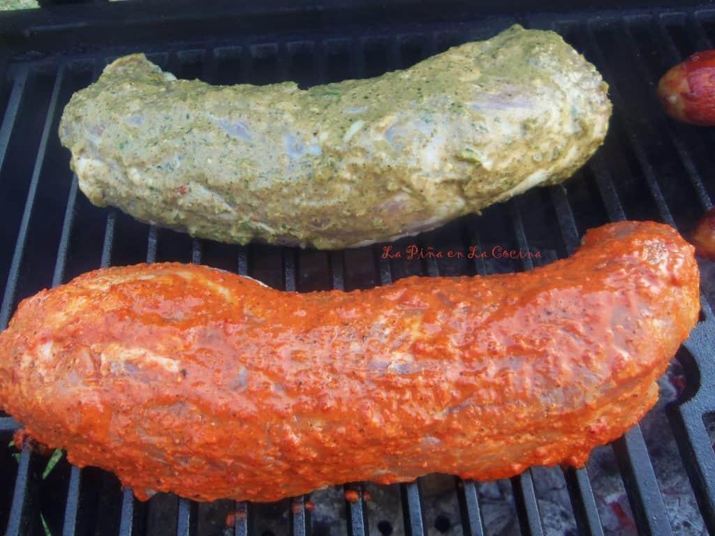 Achiote Pork Tenderloin-Rojo y Verde