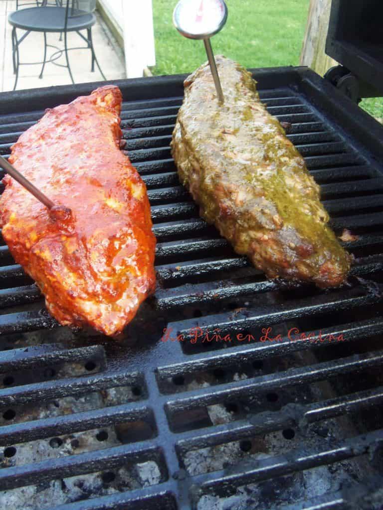 Achiote Pork Tenderloin-Red and Green