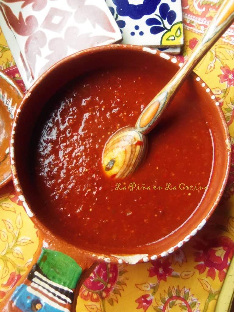 Chipotle Guajillo Salsa Con Tomatillo