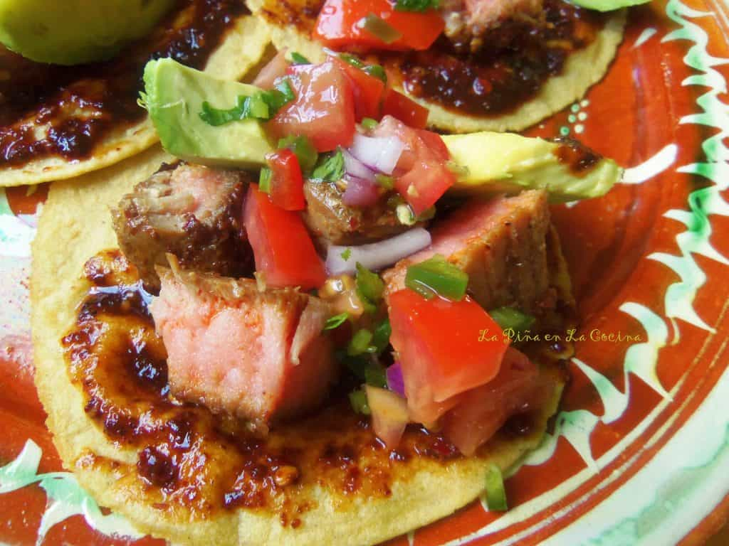 Chile de Arbol Tuna Steak Tacos