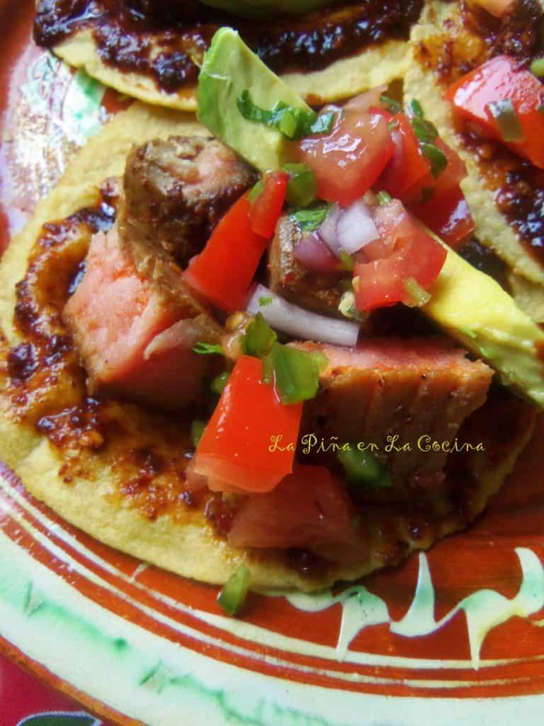 Chile de Arbol Ahi Tuna Tacos