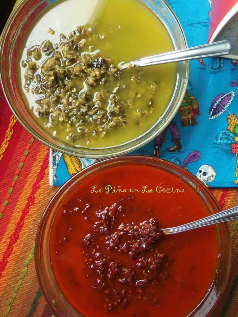 Green and Red Chile Oil/Adobo