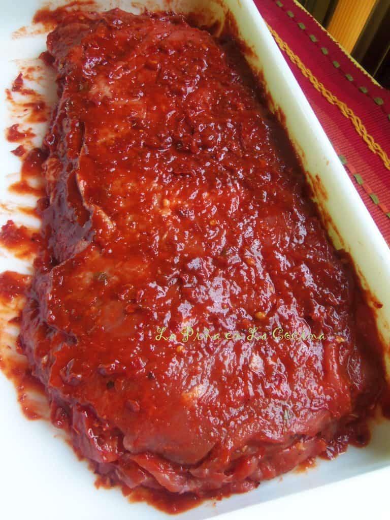 Cecina de Res Enchilada