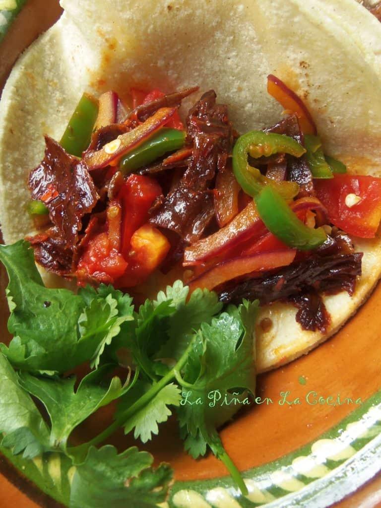 Tacos de Cecina de Res Enchilada-Dried Mexican Beef