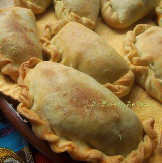 Empanadas de Picadillo en Salsa de Chile Ancho~ Beef Hand Pies