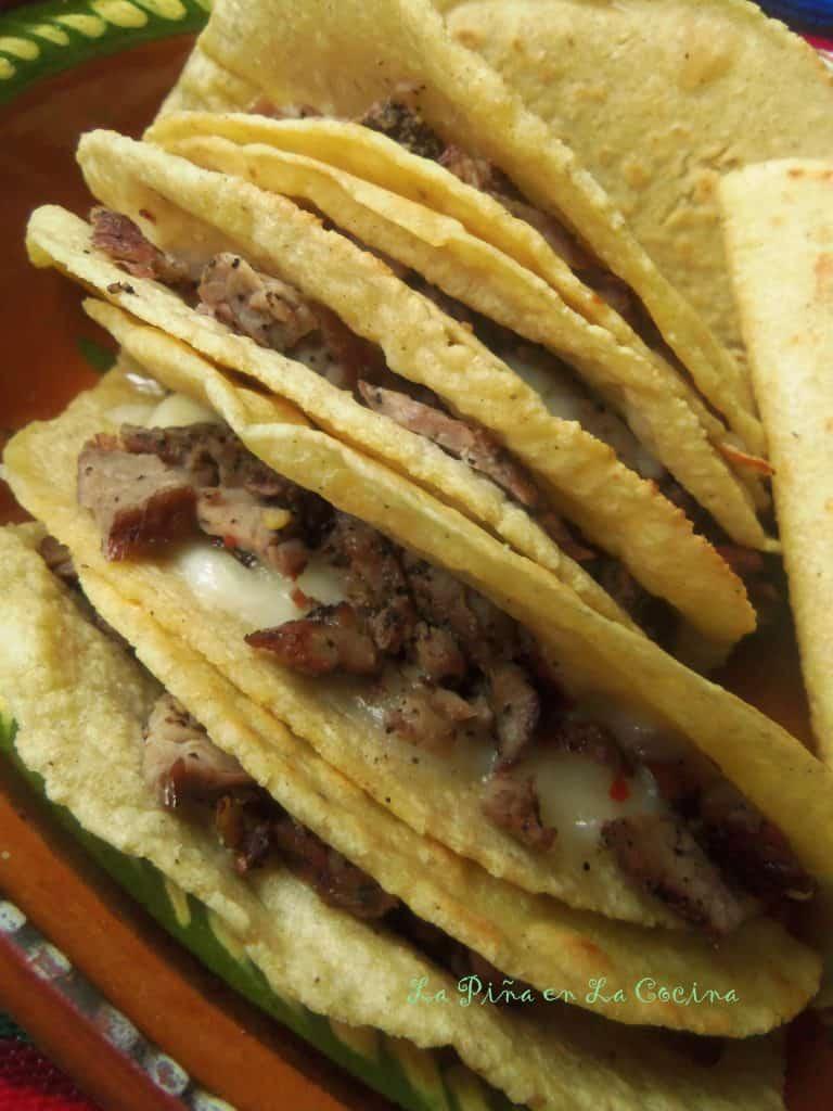 Tacos al Carbon~Mulita-Style