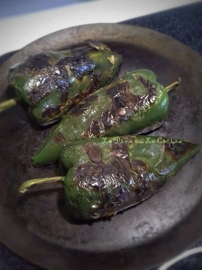 Roasting Poblanos on the Comal