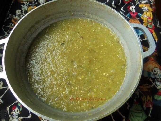 Chochoyotes- Tomatillo Salsa