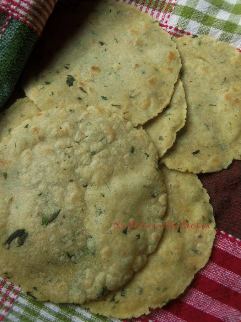 Corn Tortillas with Cilantro